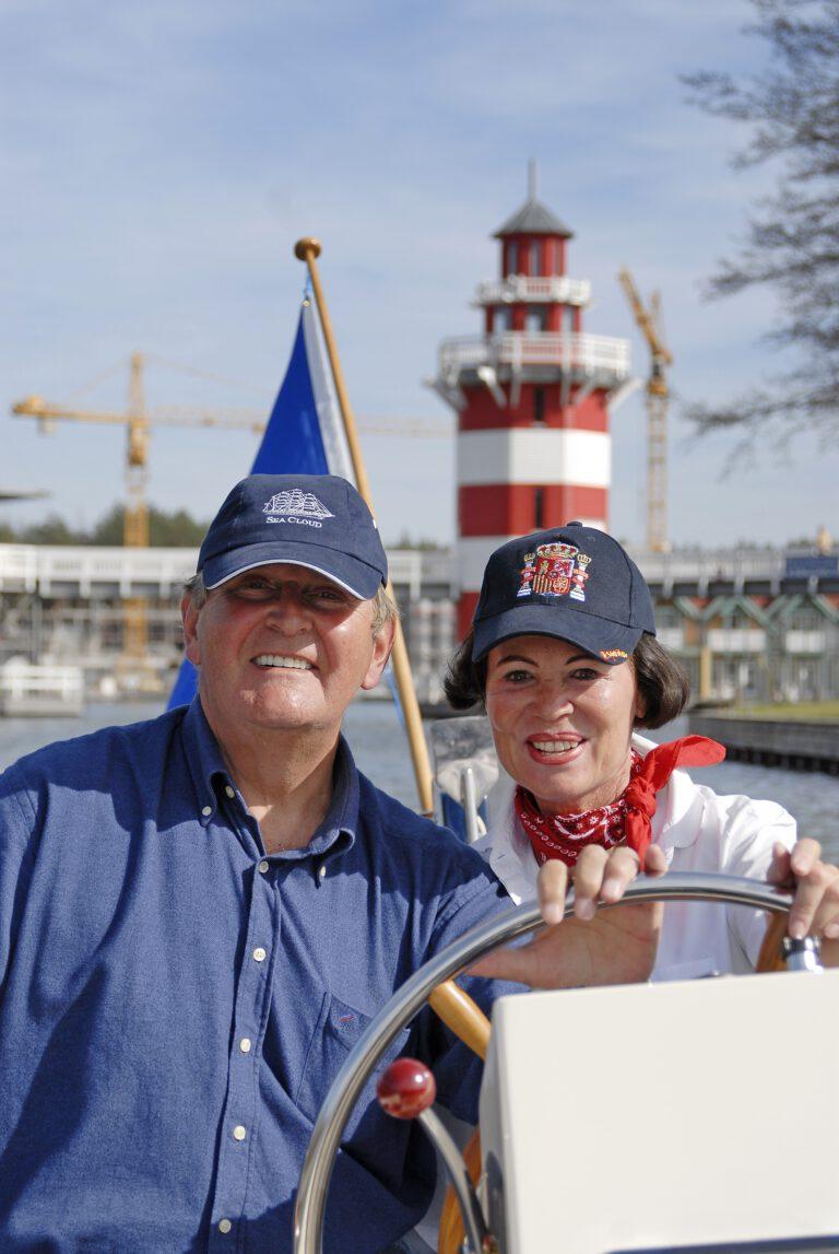 Mit Uwe-Jens Zimmermann auf ihrer Barkarole in Brandenburg