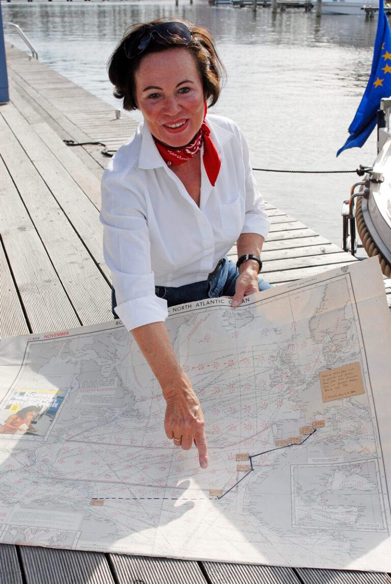 Beate Kammler zeigt Atlantikueberquerung